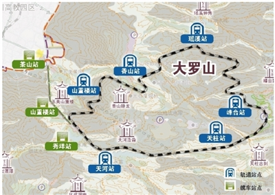 坐缆车、乘单轨、搭小火车……游大罗山今后将轻松多了