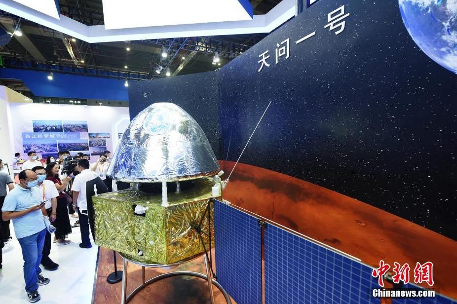 """中国首颗火星探测器""""天问一号""""模型首次公开展示"""